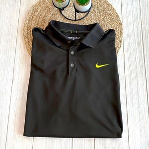 Nike Gold Dri-fit green polo size x-large NWOT